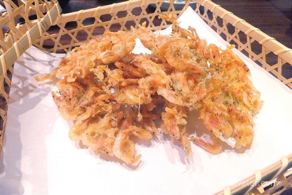 Sakura prawn tempura, Sasuga Rin (Ginza)