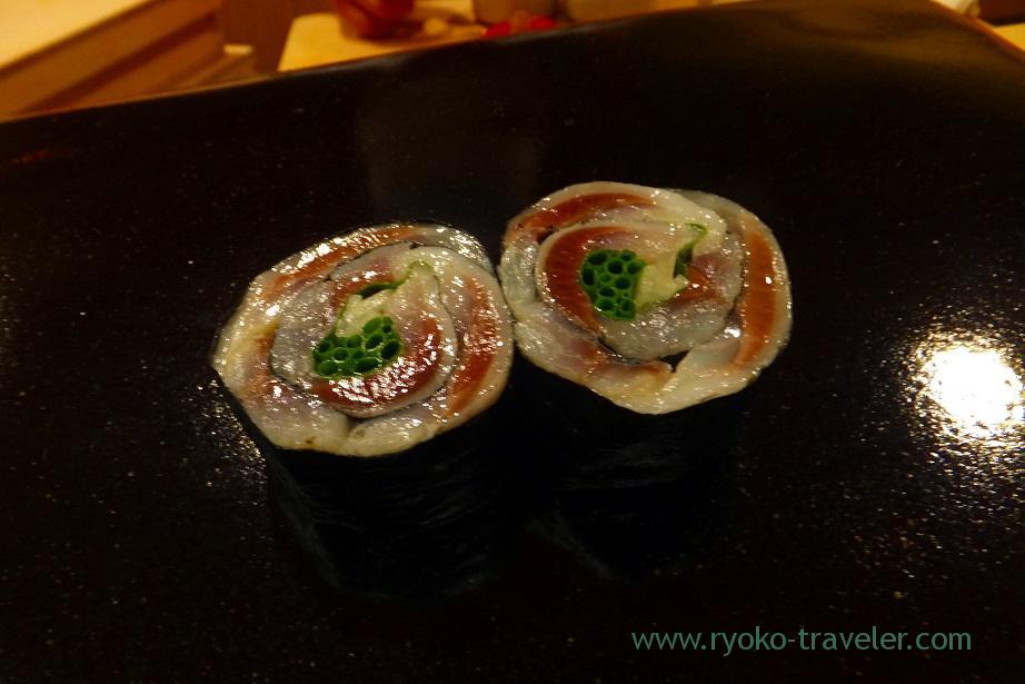 Sardine roll, Nihonbashi Kakigaracho Sugita (Suitengu-mae)