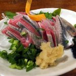Higashi-Funabashi : Sashimi, yukhoe, nanban-duke… various sardines dishes at Funakko (ふなっ子)