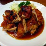 Tsukiji Market : Sauteed chicken at Odayasu (小田保)