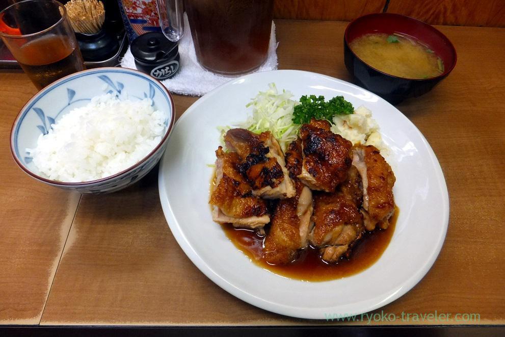 Sauted chicken set, Odayasu (Tsukiji Market)
