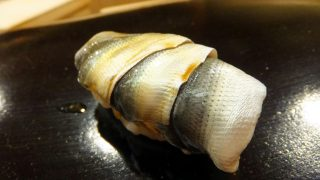 Suitengu-mae : Small and large gizzard shad at Sugita (日本橋蛎殻町すぎた)