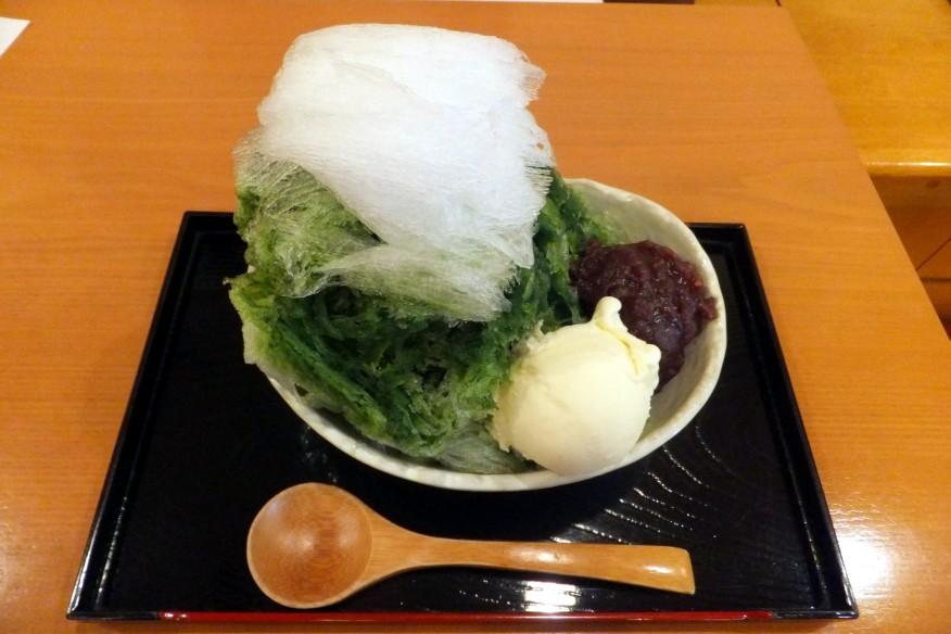 matcha-azuki-kakigori-matsuzaki-senbei-ochaseki-ginza
