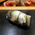 Shintomicho : Small and large gizzard shad at Sushi Hashimoto (鮨はしもと)