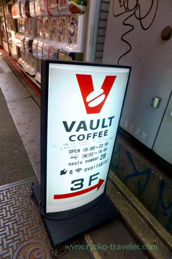 signboard-outside-vault-coffee-akihabara