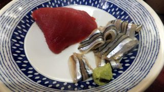 (Moved) Tsukiji Market : Boiled vegetables and sashimi at Yonehana (米花)