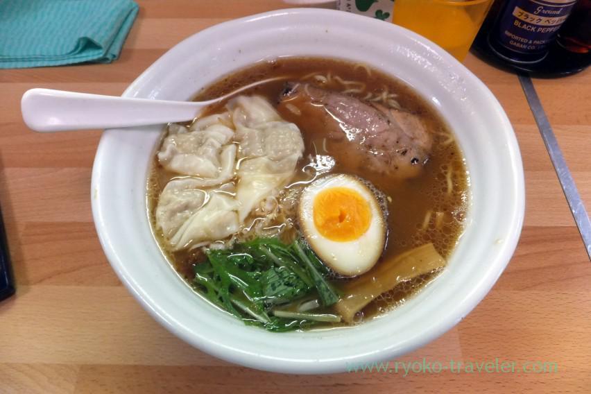 Shoyu wonton noodles, Mendokoro Taisho (Shintomicho)