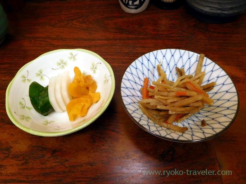 Two dishes, Kato Shokudou (Tsukiji Market)
