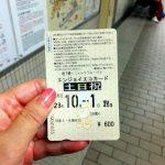 Osaka : How to get Enjoy Eco Card (Osaka municipal subway useful and inexpensive ticket)