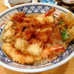 Tsukiji : Jyo tendon having variety of tempura at Tempura Kurokawa (天ぷら黒川)