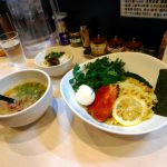Funabashi : Fatty ramen having beef broth at Gyu-soba Maruha(牛そば まるは)