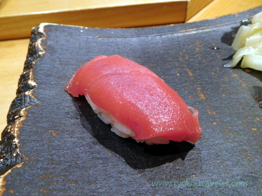 Lean meat of tuna, Sushi-ya no Saito (Susukino)