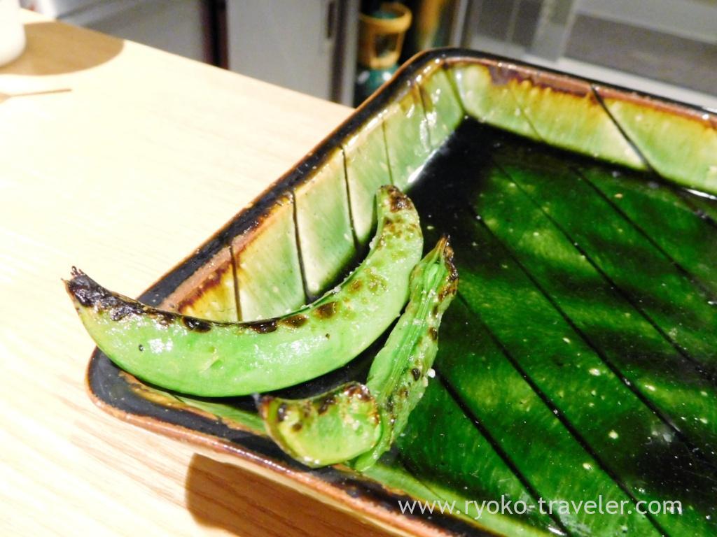 Snap pea, Yakitori Imai (Omotesando)