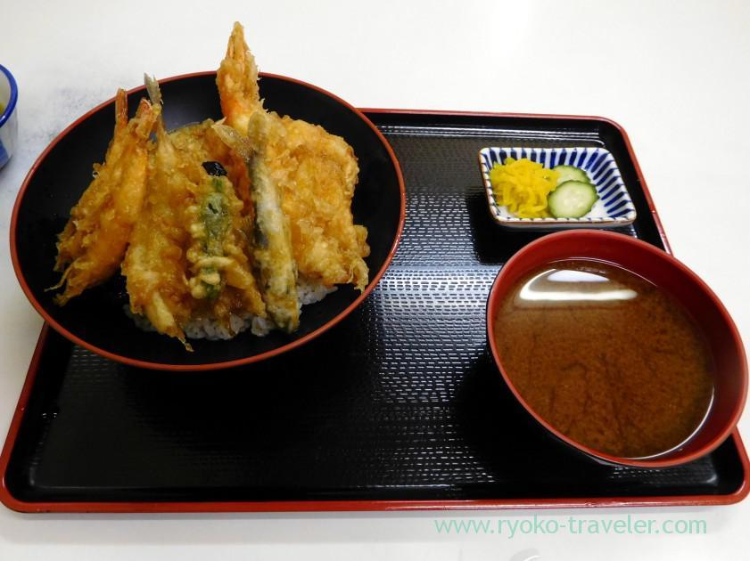 Tendon and miso soup, Tenfusa (Tsukiji market)