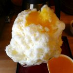 Nippori : Milky kakigori with sweet Watson pomelo syrup at Himitsu-do (ひみつ堂)