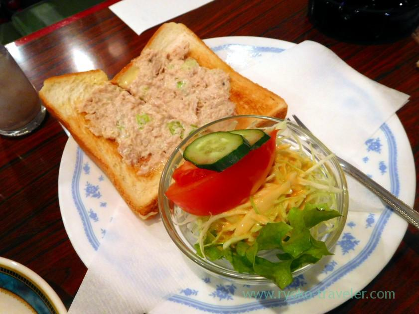 Tuna toast, Coffee Monarisa (Funabashi)