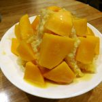 Taipei : Apple mango shaved ice at 綠豆蒜啥咪