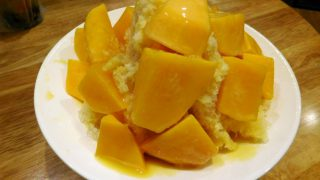 Taipei : Apple mango shaved ice at Green Bean Suanshami (緑豆蒜啥咪)