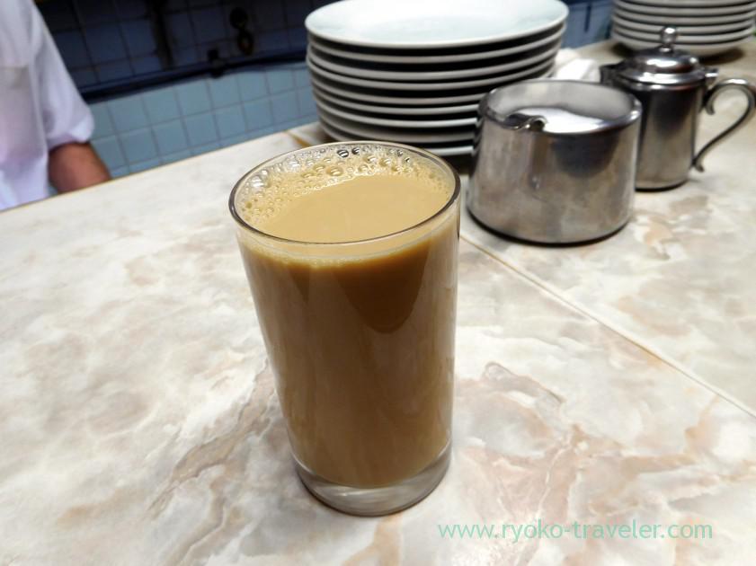Hot milk coffee, Aiyo (Tsukiji Market)