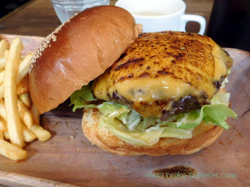 Cheese hamburger, Nijiiro (Kachidoki)