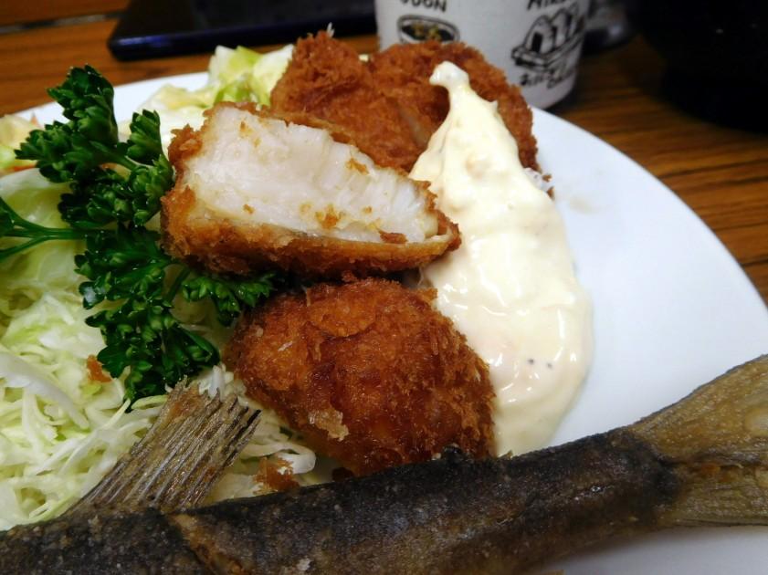 Deep fried scallops, Tonkatsu Yachiyo (Tsukiji market)