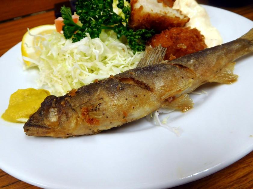 Deep fried sweetfish, Tonkatsu Yachiyo (Tsukiji market)