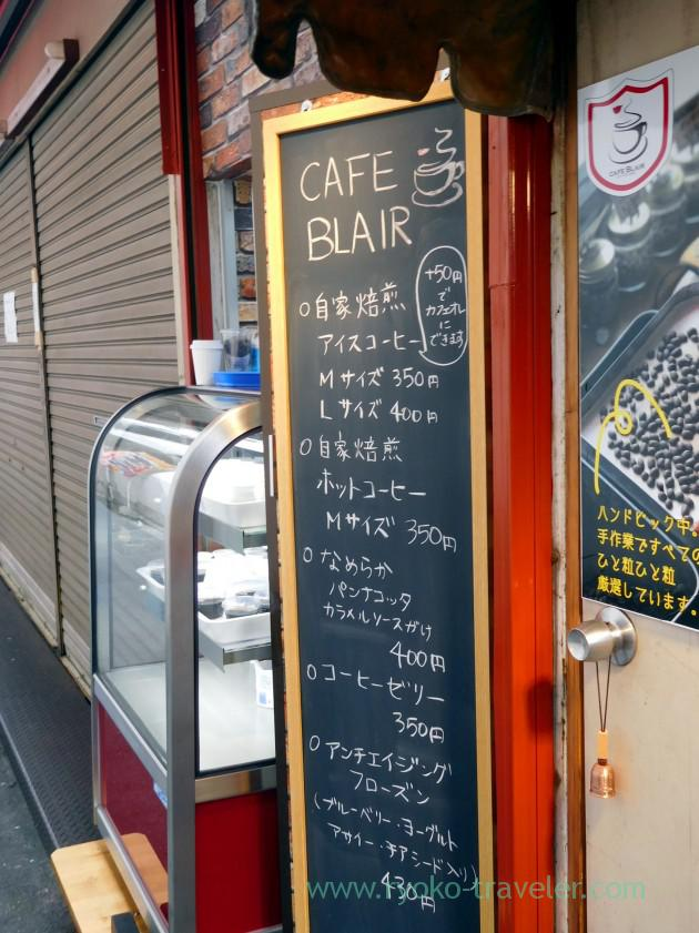Menu, Cafe Blair (Motoyawata)