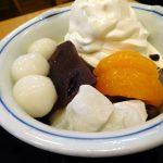 Funabashi : Shiratama cream anmitsu at Mihashi Funabashi Tobu branch (みはし船橋東武店)