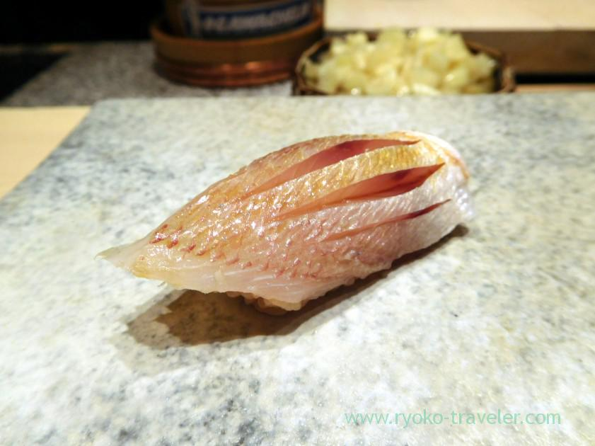 Young red sea bream, Sushi Yu (Roppongi)