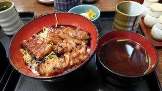 Tsukiji Market : Eel and chicken with alcoholic drinks at Fukusen (福せん)