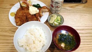 Toyosu market : C set at Tonkatsu Yachiyo (とんかつ八千代)